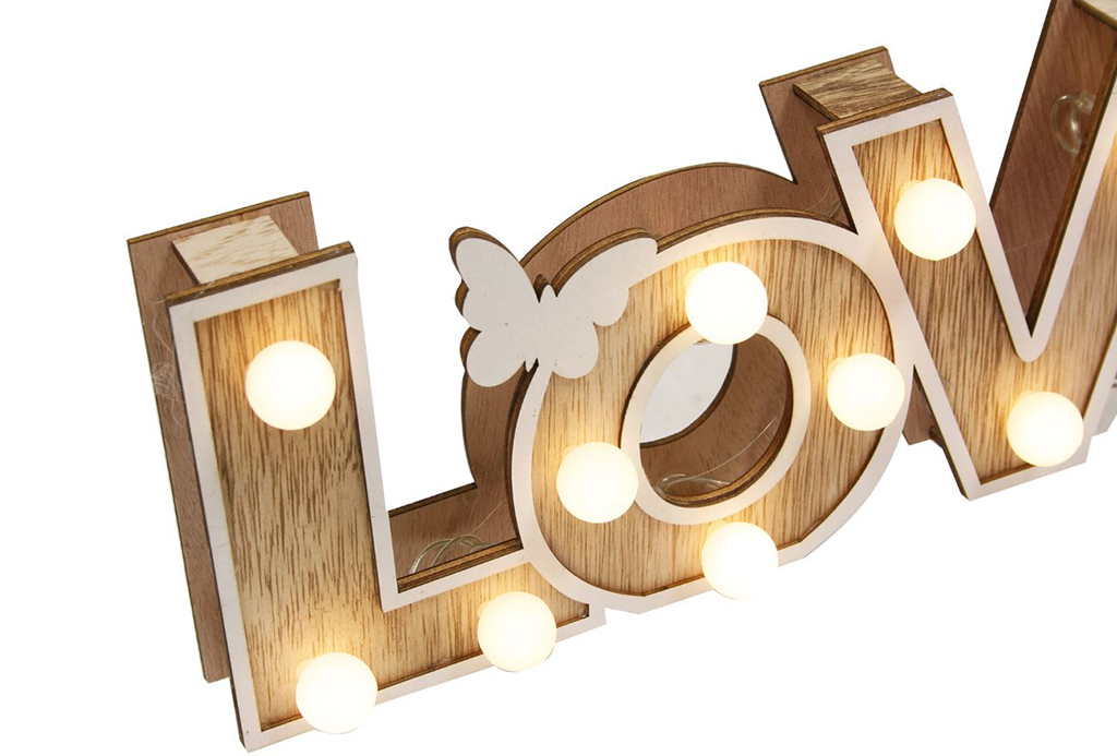 Decor love con luz
