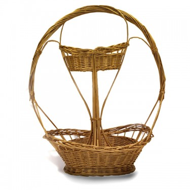 Gold double deck basket