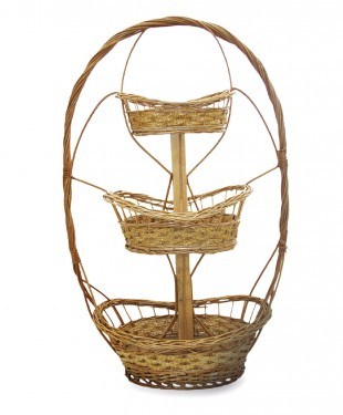 Three-tier basket