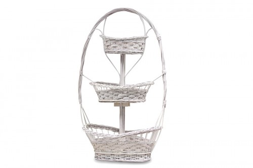 3-tier white basket