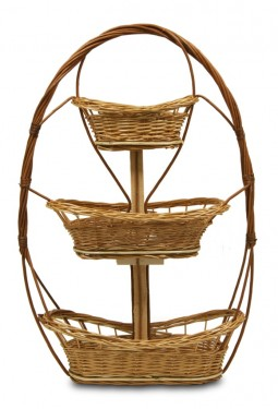 3-tier mini light wicker basket