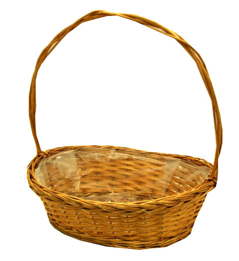Flat wicker basket honey
