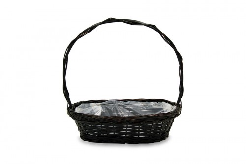 Walnut flat wicker basket