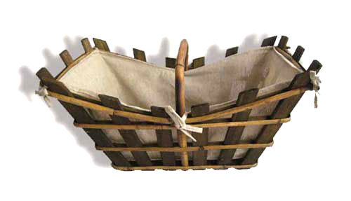 Rustic wooden basket