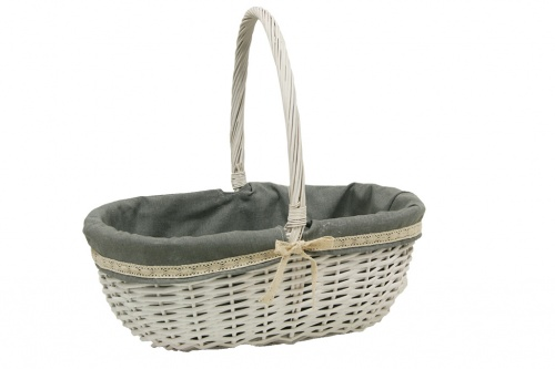Wicker basket w / fabric
