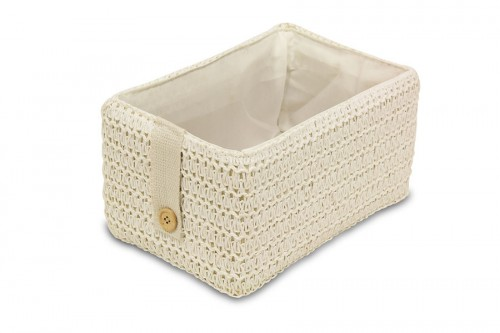 White tray with button