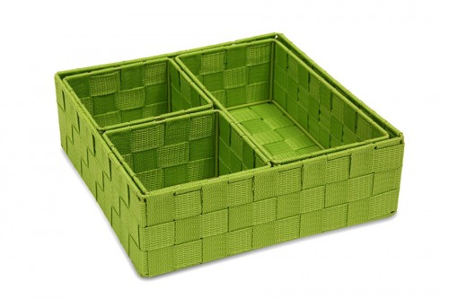 S/4 green cloth trays