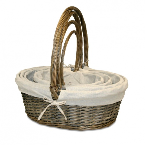 Peace w / 4 wicker basket