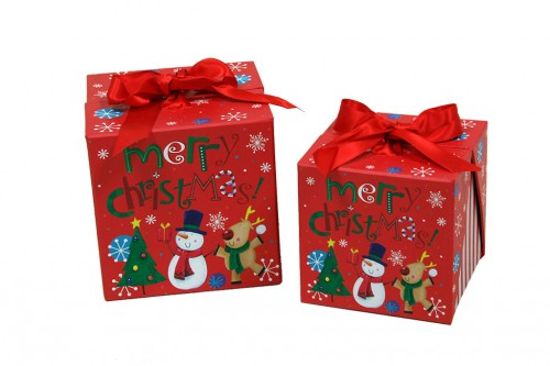 Set 2 cajas regalo Merry Christmas