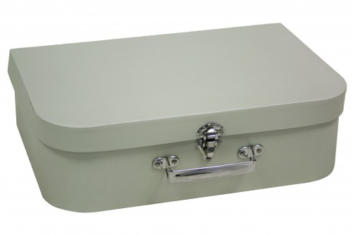 Gray cardboard suitcase