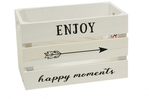 Caja madera enjoy happy moments