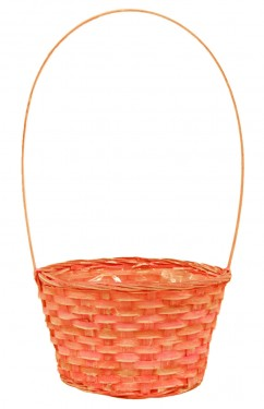 Cesta cheap naranja plastificada