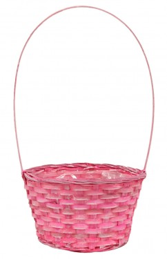 Cesta cheap rosa plastificada