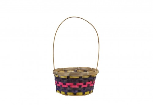 S/2 viole small basket with plastic