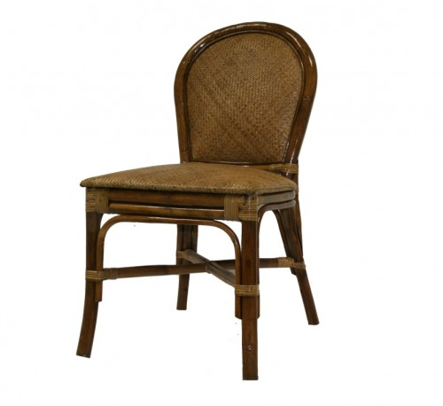 Lacquered cane chair