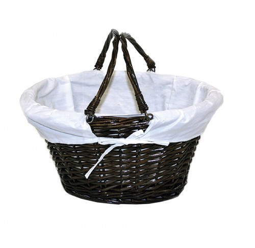 Movable handles black basket