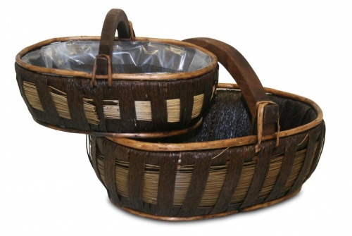 Flat striped basket