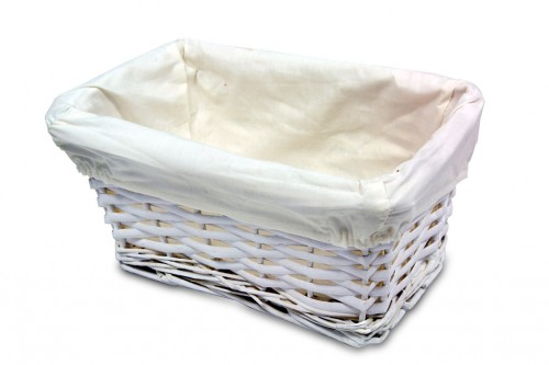 Small white basket drawer
