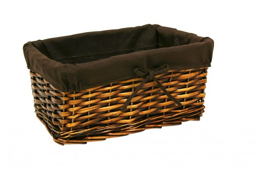 Brown basket drawer