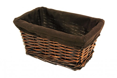 Small brown basket drawer