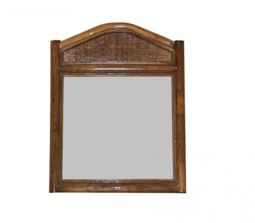 Miroir collection canne marron foncé
