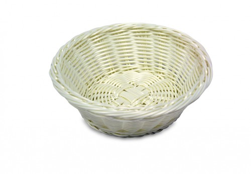 Round white bread basket