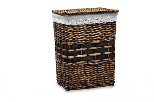 Dark clothes hamper