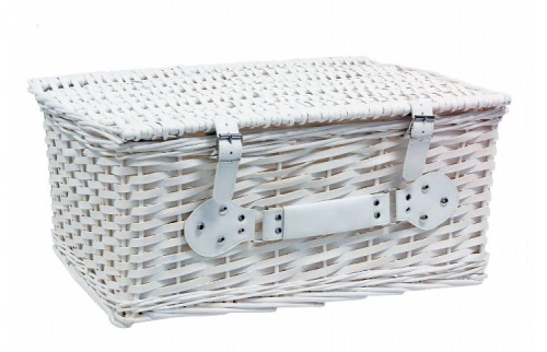 White wicker case
