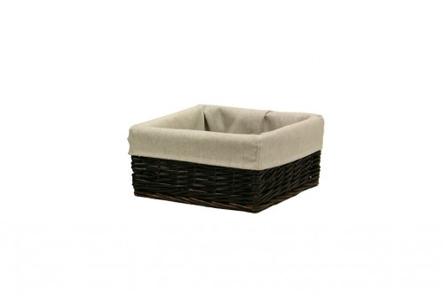 Wicker trunk with seat cover