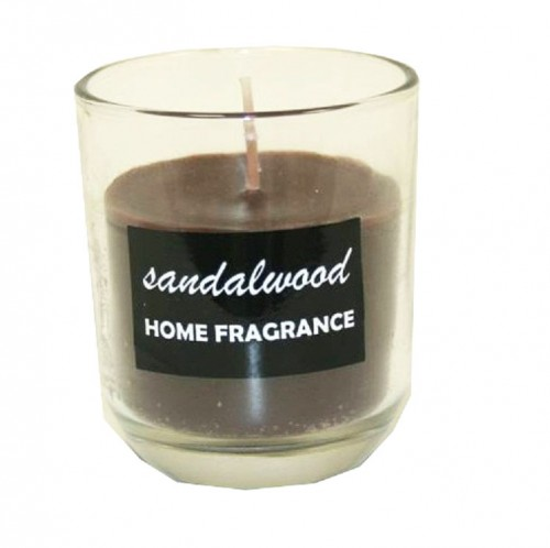 Brown (sandalwood) scented candle